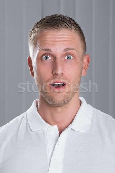 Stock fotó: Portré · meglepődött · férfi · fiatal · jóképű · férfi · fehér