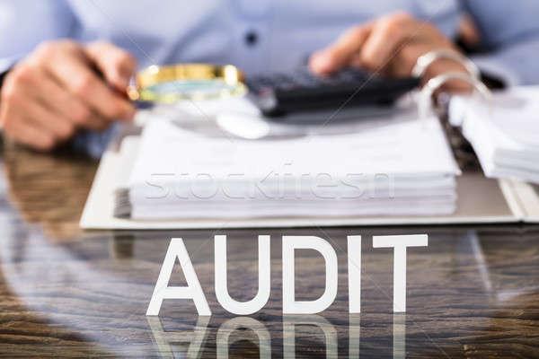Financeiro dados analista auditar texto secretária Foto stock © AndreyPopov