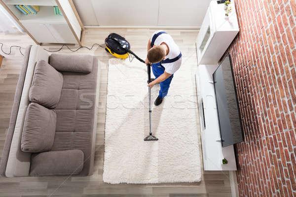 洗浄 カーペット 真空掃除機 表示 男性 ストックフォト © AndreyPopov
