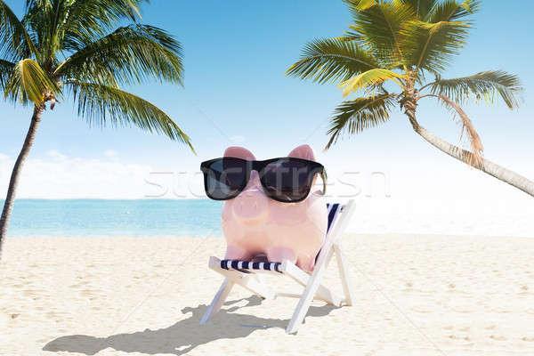 Солнцезащитные очки палуба Председатель праздник Сток-фото © AndreyPopov