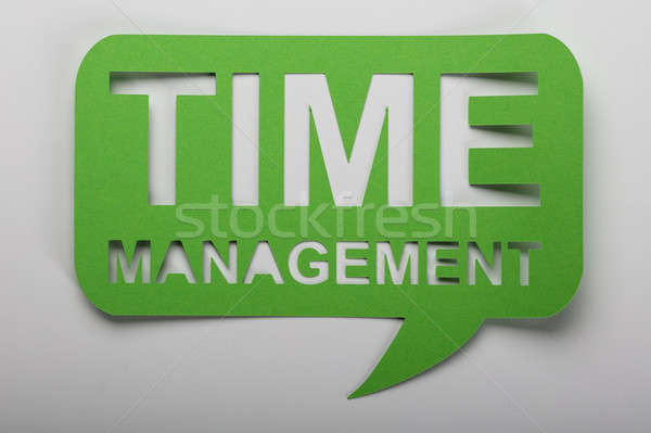 Time Management Text Over White Background Stock photo © AndreyPopov