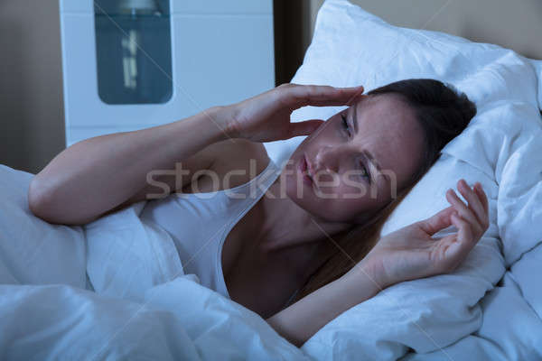 женщину страдание бессонница комнату ночь Сток-фото © AndreyPopov
