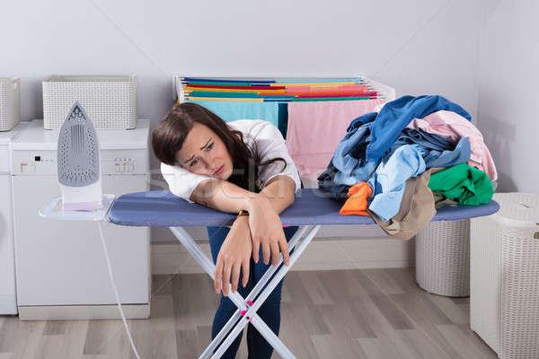 Сток-фото: несчастный · женщину · совета · работу