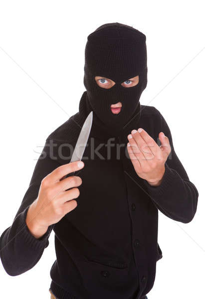 Burglar Holding Knife Stock photo © AndreyPopov