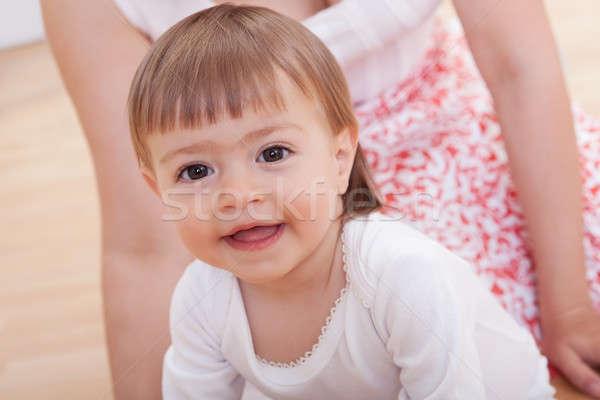 Cute niewinny młodych baby portret uśmiechnięty Zdjęcia stock © AndreyPopov