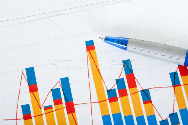 Photo of pen and growth charts Stock photo © AndreyPopov