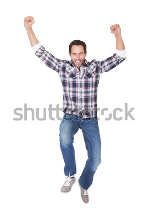 Portrait of excited middle age man Stock photo © AndreyPopov