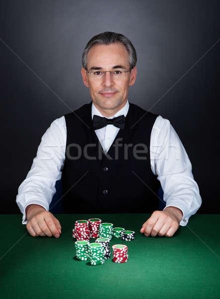 Portrait of a croupier Stock photo © AndreyPopov