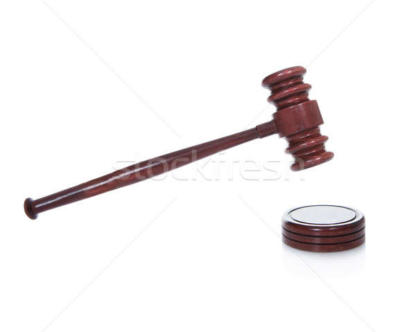 Wooden gavel or mallet as used by a judge in a courtroom Stock photo © AndreyPopov