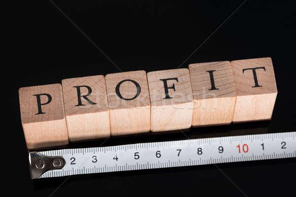 Business heerser zwarte achtergrond Stockfoto © AndreyPopov