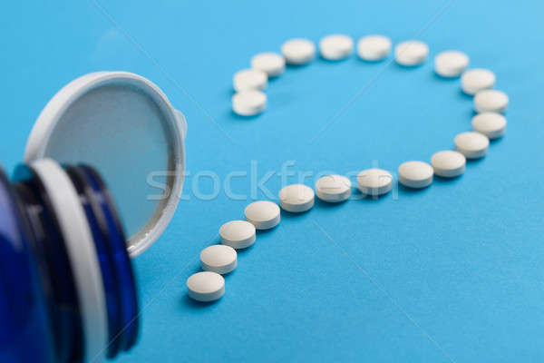 Question Mark Made With White Tablets Stock photo © AndreyPopov