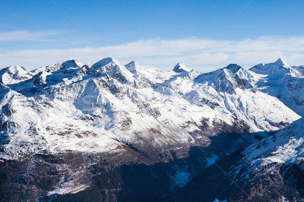Mountain Range In Solden Stock photo © AndreyPopov