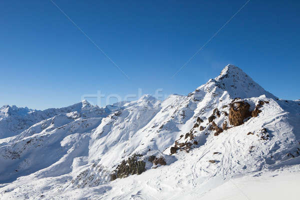 Snowy Mountains In The Solden Ski Resort Stock photo © AndreyPopov