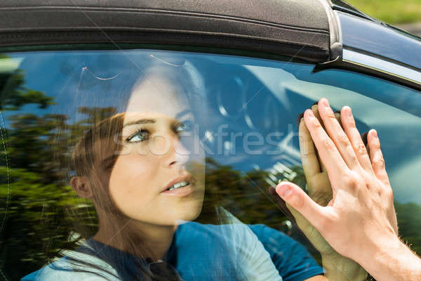 Pár közmondás viszlát autó utazás ablak Stock fotó © AndreyPopov