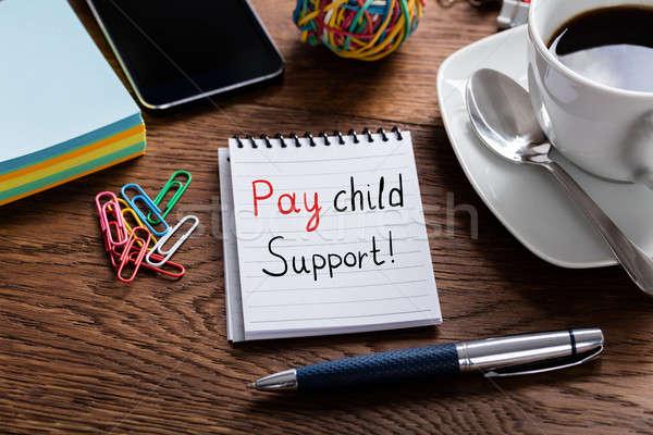 Stok fotoğraf: çocuk · destek · yazılı · notepad