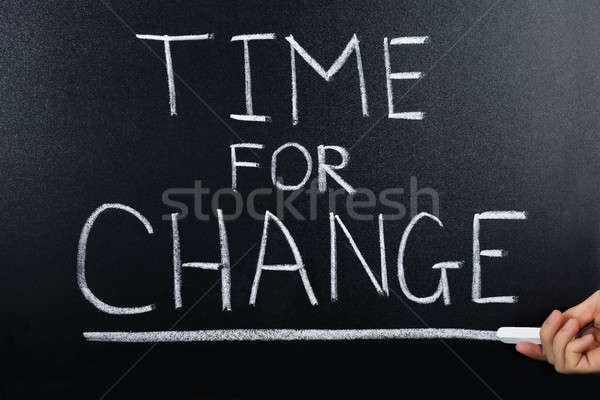 Time For Change Concept On Blackboard Stock photo © AndreyPopov