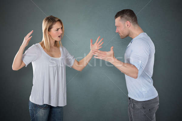 Young Couple Quarreling Stock photo © AndreyPopov