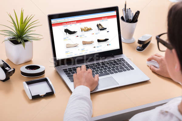 Businesswoman Doing Online Shopping Stock photo © AndreyPopov
