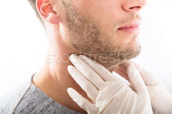Uomo ghiandola controllo medico esame Foto d'archivio © AndreyPopov