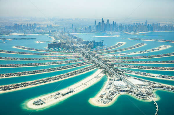 Stock photo: Aerial View Of Palm Island In Dubai
