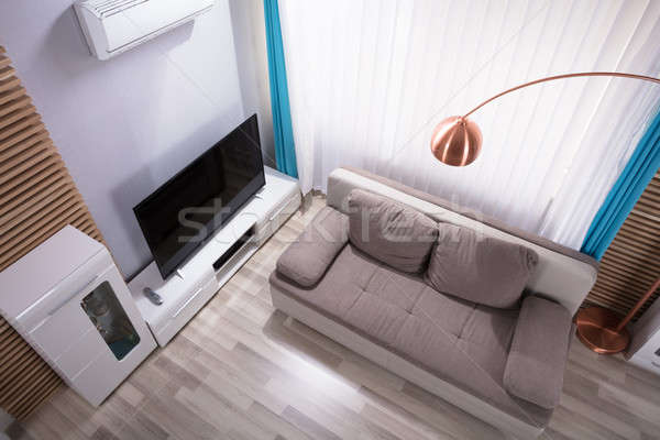 Elevated View Of Modern Living Room Stock photo © AndreyPopov