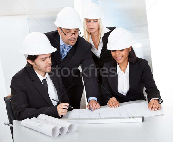Group of architects at the meeting Stock photo © AndreyPopov