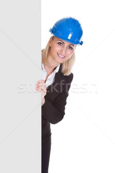 Female Architect Holding Placard Stock photo © AndreyPopov