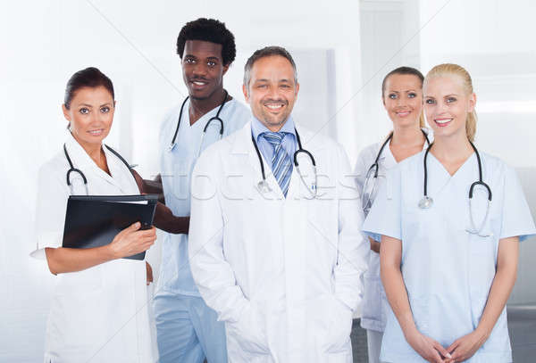 Group Of Happy Multiracial Doctors Stock photo © AndreyPopov