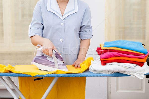 Pokojówka ubrania pokładzie domu Zdjęcia stock © AndreyPopov