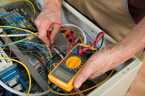 Elektryk polu pracy pracownika usługi Zdjęcia stock © AndreyPopov