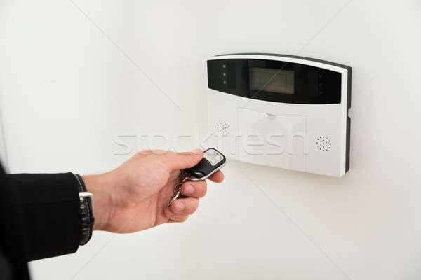 手 リモコン セキュリティ クローズアップ ビジネスパーソン 入り口 ストックフォト © AndreyPopov