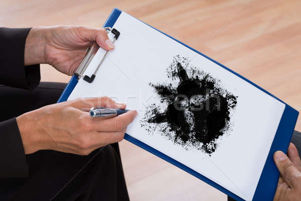 Psychologist Showing Rorschach Inkblot To Patient Stock photo © AndreyPopov