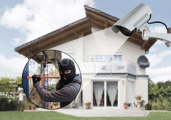 Surveillance Camera Capturing A Burglar Stock photo © AndreyPopov