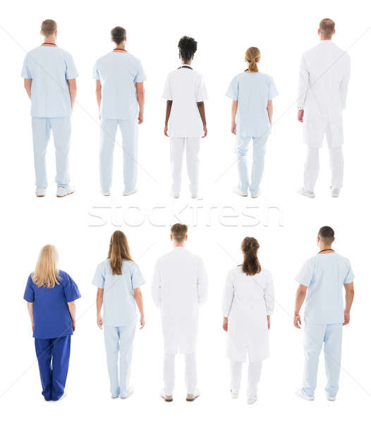 Rear View Of Medical Team Standing In Row Stock photo © AndreyPopov