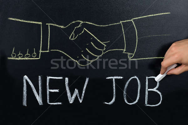New Job Concept On Blackboard Stock photo © AndreyPopov