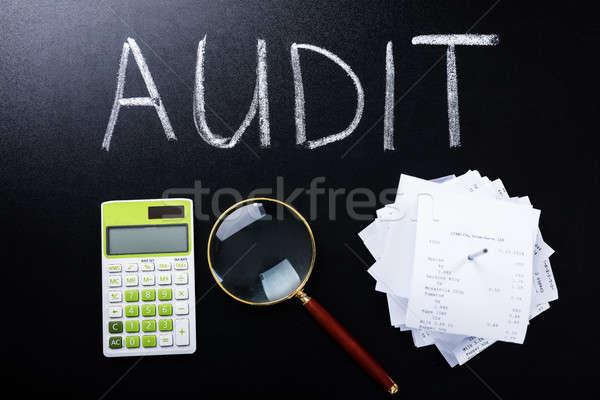 Auditar lousa calculadora escolas Foto stock © AndreyPopov