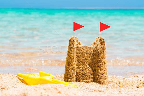 Sandcastle At Beach Stock photo © AndreyPopov