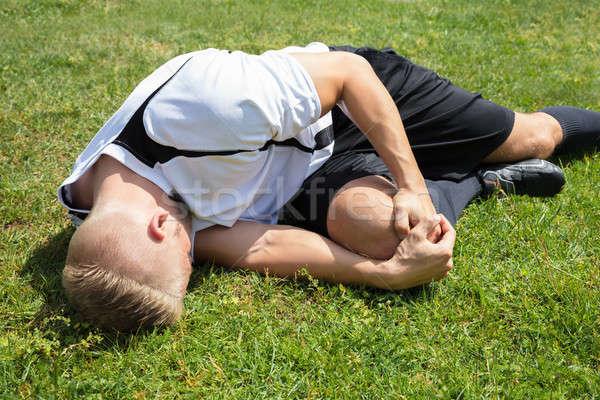 Сток-фото: мужчины · игрок · страдание · колено · травма