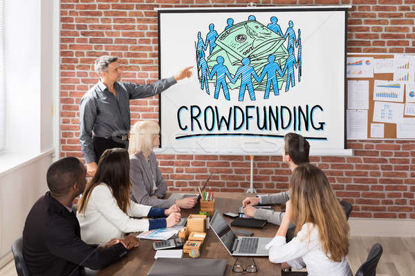 Crowdfunding Concept Presentation Stock photo © AndreyPopov