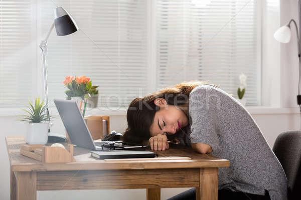 Сток-фото: молодые · деловая · женщина · спальный · женщину