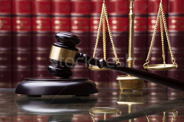 Close-up Of Gavel And Weighing Scale Stock photo © AndreyPopov