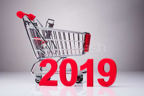 Year 2019 In Front Of Empty Shopping Cart Stock photo © AndreyPopov