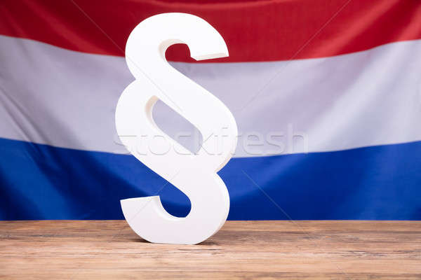 Paragraph Symbol In Front Of Netherlands Flag Stock photo © AndreyPopov