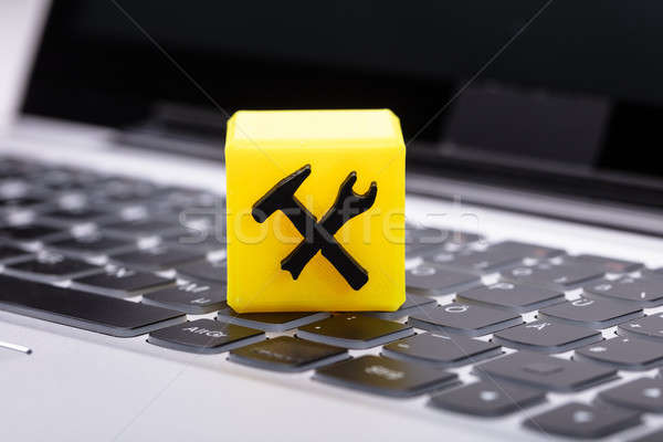 Cubic Block Showing Under Construction Icon Stock photo © AndreyPopov