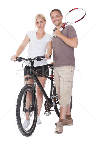 Fit healthy middle-aged parents Stock photo © AndreyPopov