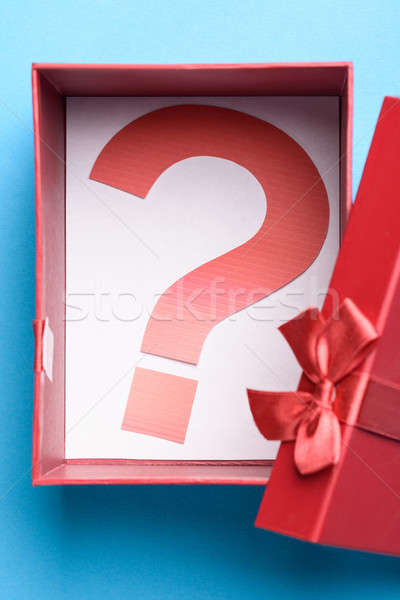 Gift Box With A Question Mark Symbol Stock photo © AndreyPopov