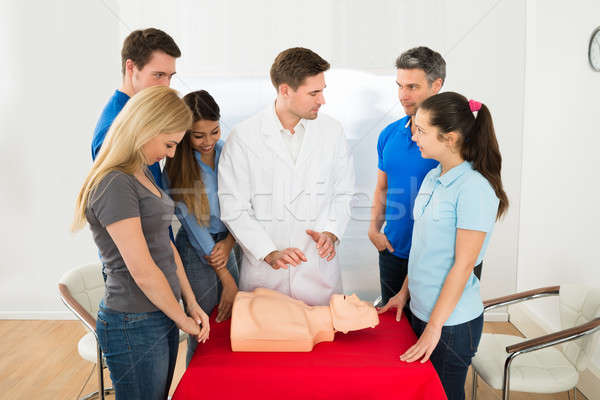 Health Class Instructor Demonstrating Cpr Techniques Stock photo © AndreyPopov