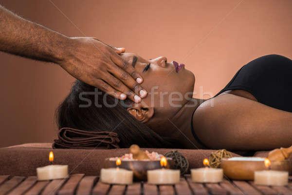 女性 額 マッサージ スパ 小さな ストックフォト © AndreyPopov