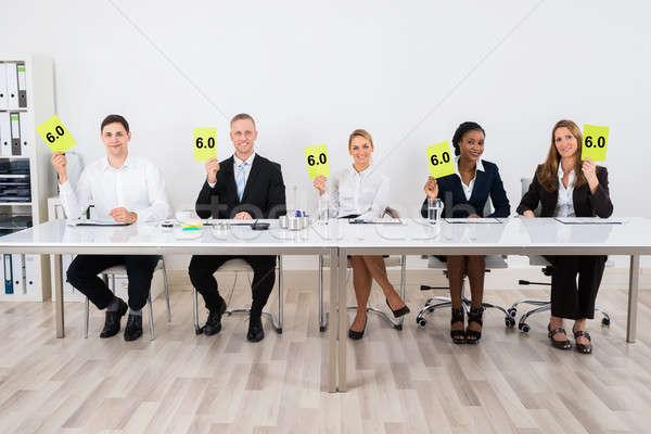 Votação papel feliz conferência Foto stock © AndreyPopov