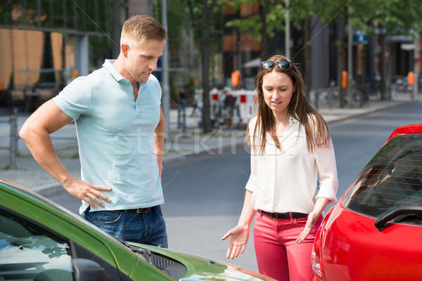 Couple Looking At Car Collision Stock photo © AndreyPopov